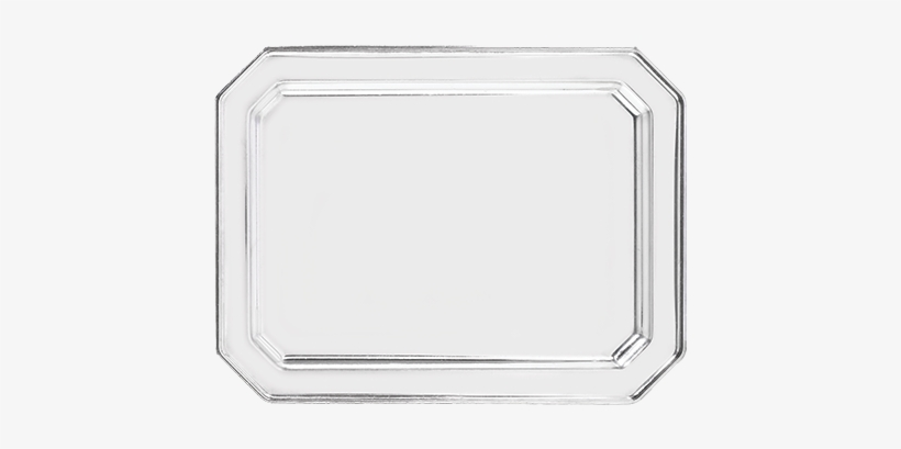 Octagon Tray Stainless Steel 30 X 40 Cm - Serving Tray, transparent png #2758150