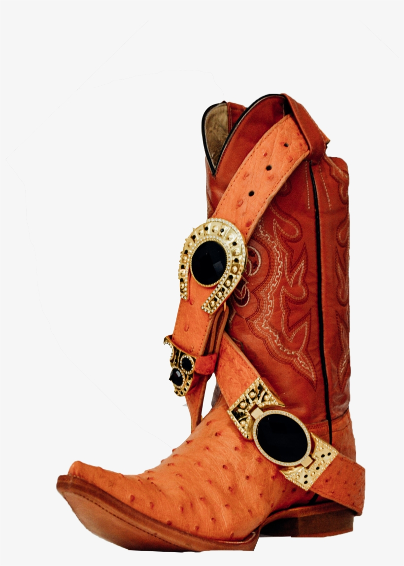 Deep Orange Leather - Cowboy Boot, transparent png #2758613