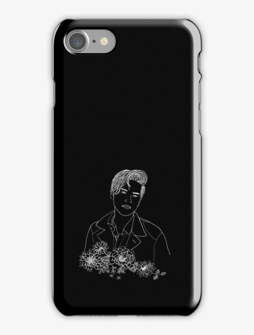 Outline Drawing With Flowers Iphone 7 Snap Case - Mu Hero Academia Case Iphone 7, transparent png #2760418
