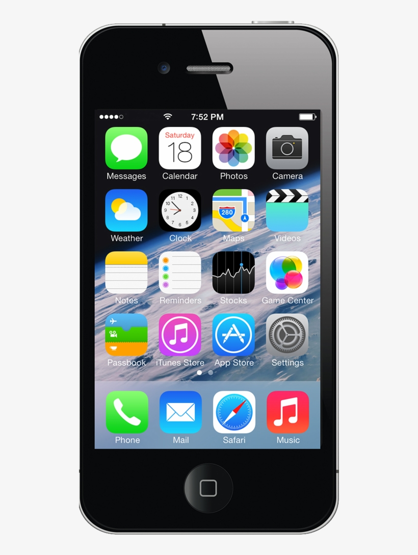 Apple Iphone 4s Black, transparent png #2760998