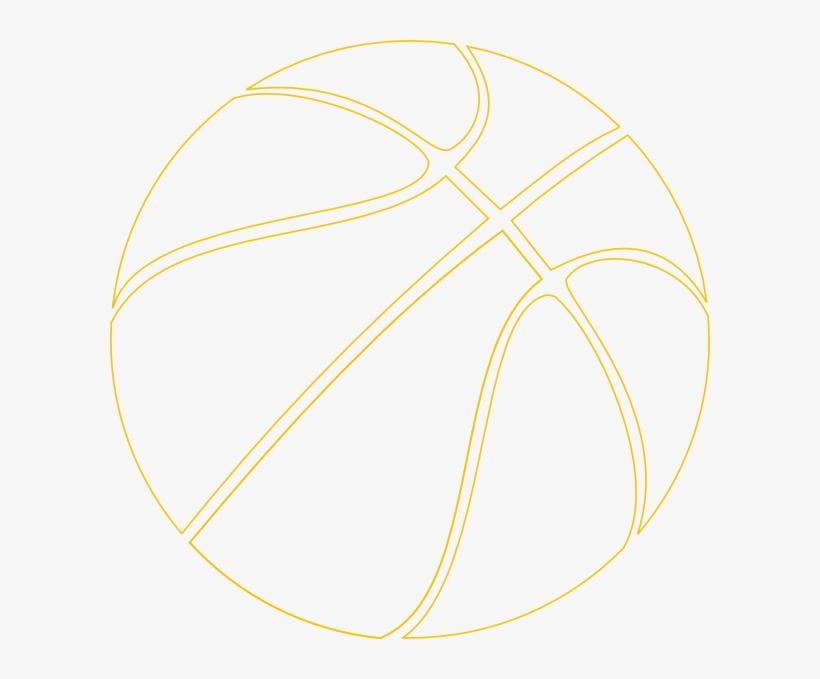 Gold Outline Basketball Clip Art At Clker - Circle, transparent png #2761049