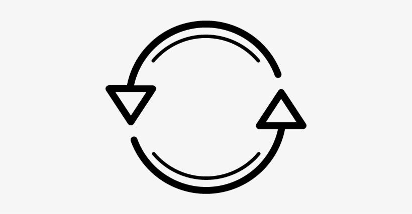 Repeat Button Vector - Dos Flechas En Circulo, transparent png #2761092
