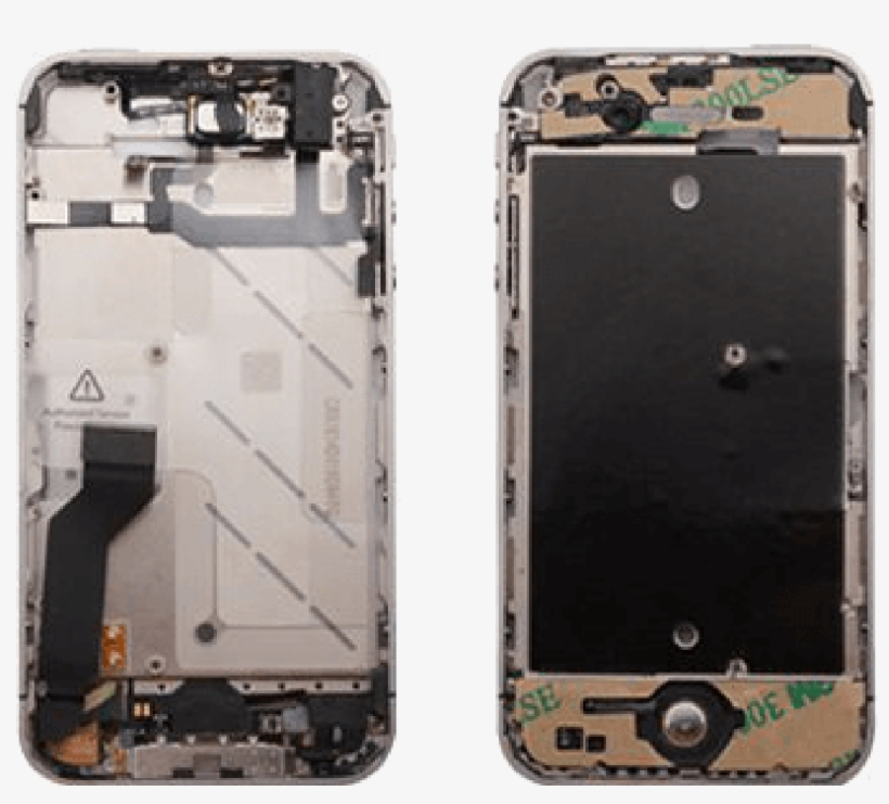 Microspareparts Bezel Assembly W/o Front Camera Black - Iphone 4s, transparent png #2761165