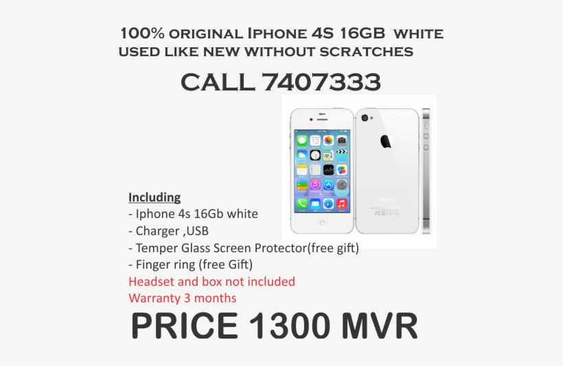 Apple Iphone 4s 8gb White, transparent png #2761591