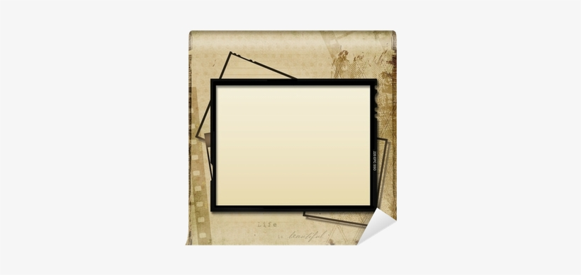 Grunge Background With Old Filmstrip And Frame Wall Mirror Free