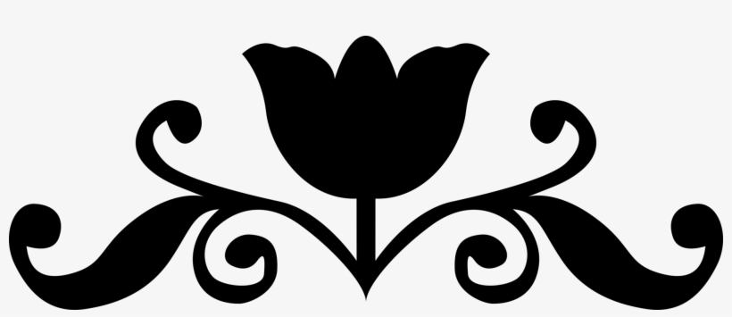 Silhouette Rose Black And White Flower Logo Vector Graphics Free