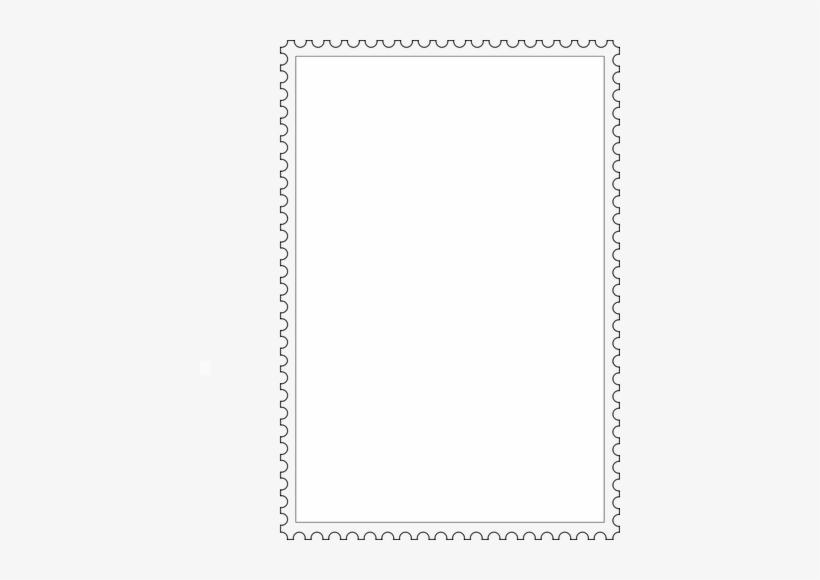 Postage Stamp Border Clipart - Doodle Page Frame Clipart, transparent png #2766538