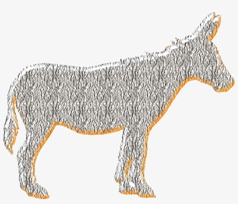 Click On Burro Image Save Graphic In Transparent Png - Watercolor Farm Animals, transparent png #2767492