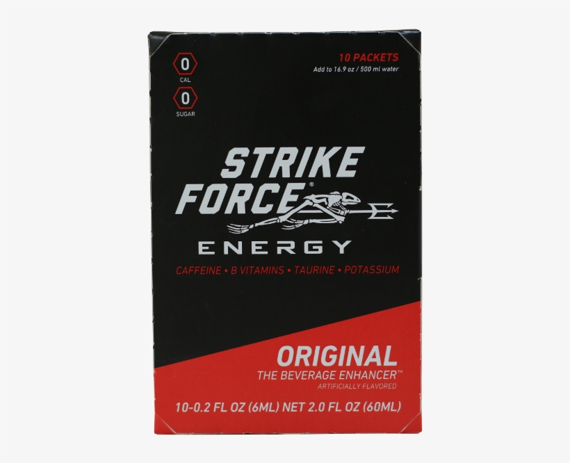 Strike Force, 10 Count Box - Strike Force Energy 10 Count Box - Lemon Men's Hydration, transparent png #2768109