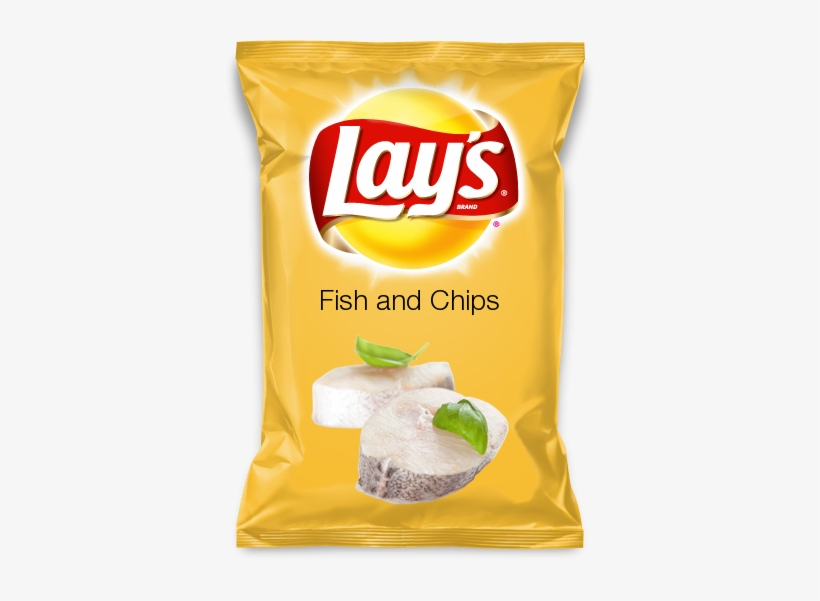 Fish And Chips - Lays Fried Pickles With Ranch Chips, transparent png #2768382