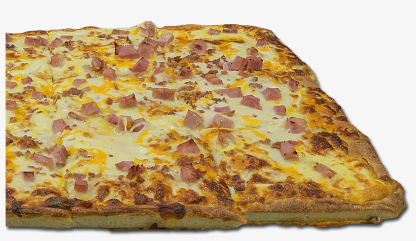 Breakfast Pizza With Ham, Bacon And Eggs - Bacon And Eggs, transparent png #2768683
