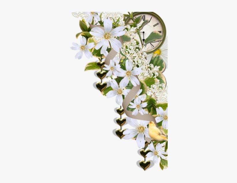 Jasmine Flower Vector Png Download - Jasmine Flower Corner, transparent png #2769261