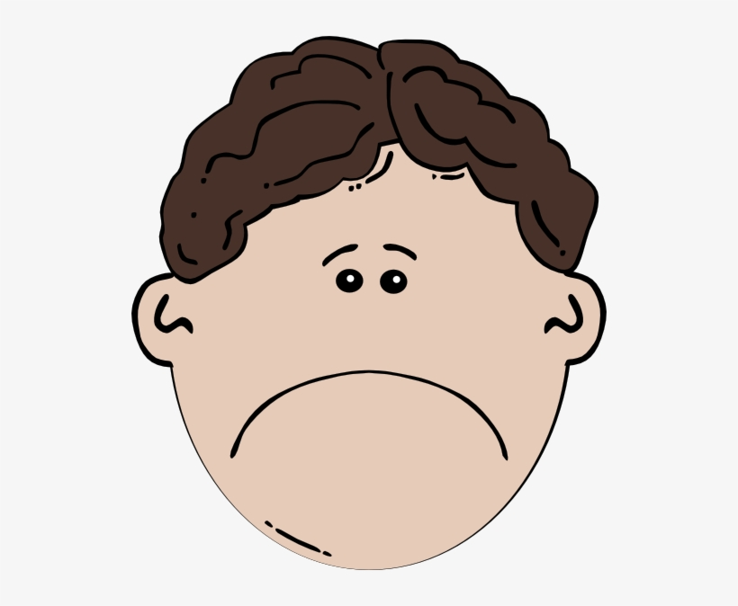 Sad emoji kid. Boy clipart face free