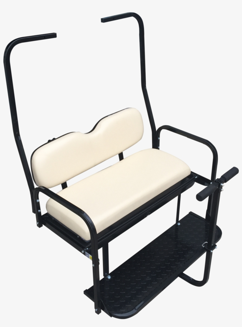 Old Style Club Car Ds Golf Cart Rear Flip Seat Kit - Ezgo Txt Golf Cart Rear Flip Back Seat Kit - Factory, transparent png #2770644