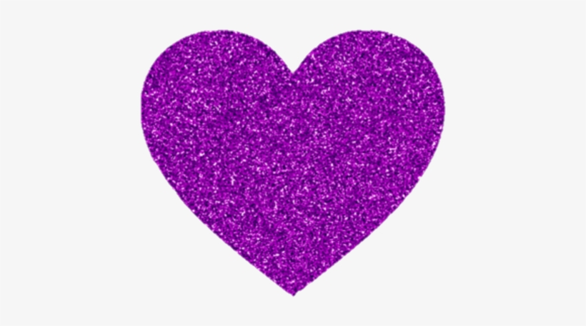 Purple Violet Heart Love Glitter - Lilac Glitter Heart Png, transparent png #2771702