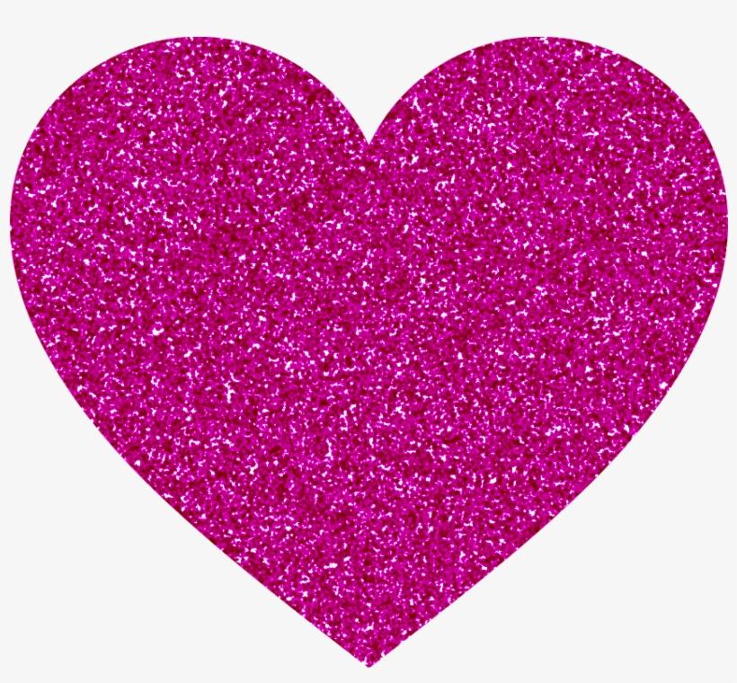 Purple Glitter Heart Png By Carlyflower On Deviantart - De Coeur Et De Rose, transparent png #2771773