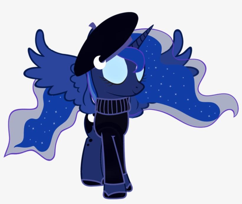 Cool77778, Beret, Clothes, Princess Luna, Safe, Simple - De My Little Pony Princesse Luna, transparent png #2771794
