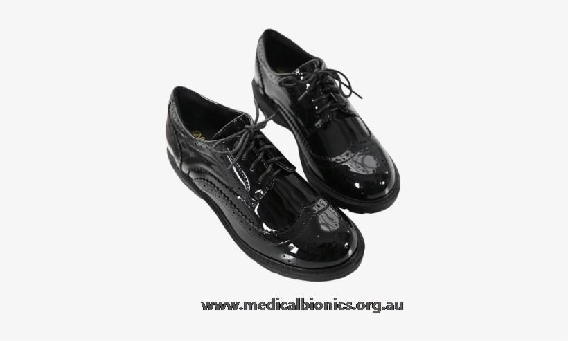 Nk76ig1273 Black / Ballet Flats / Closed Toe / Round - Anran Lace-up Brogue Patent Shoes Black/patent 37, transparent png #2773114