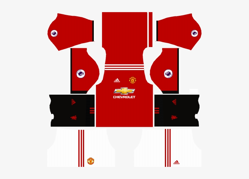 bc985261b Manchester United Home Kit Dream League Soccer 2017-2018 - Kit Dream League  Soccer 2017 Manchester United