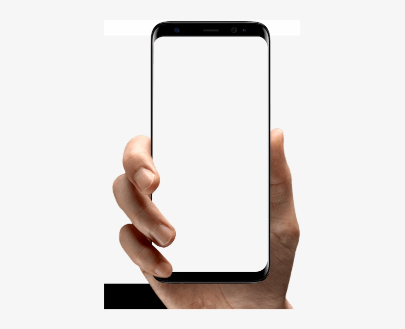 Image Of A Hand Holding A Phone, Showing The Bcn System - Hand Holding Phone Png, transparent png #2774754