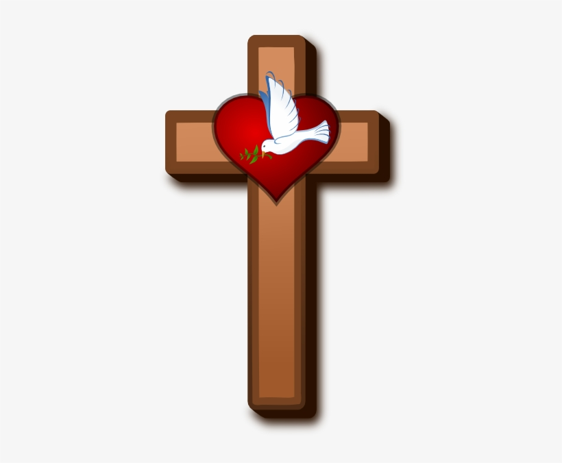 Spirit Clipart Holy Cross - Holy Cross With Dove, transparent png #2775083