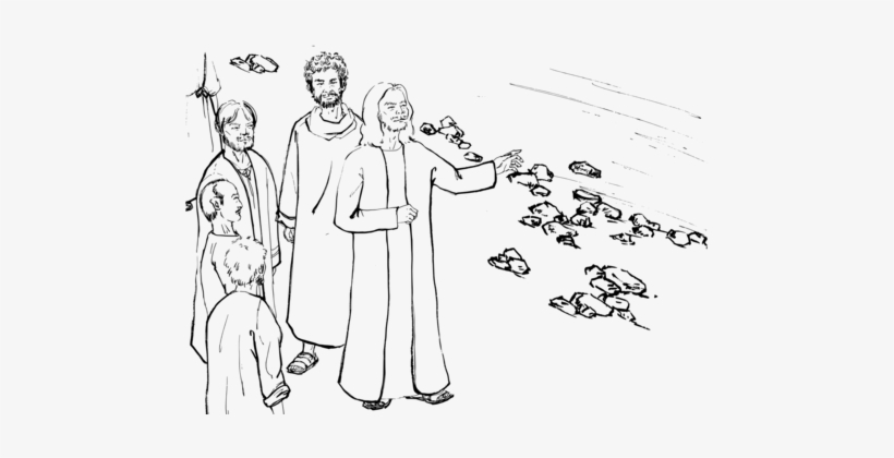 Bible Story Healing The Man With A Withered Hand Disciple - Llamado De Felipe Y Natanael Para Colorear, transparent png #2775451