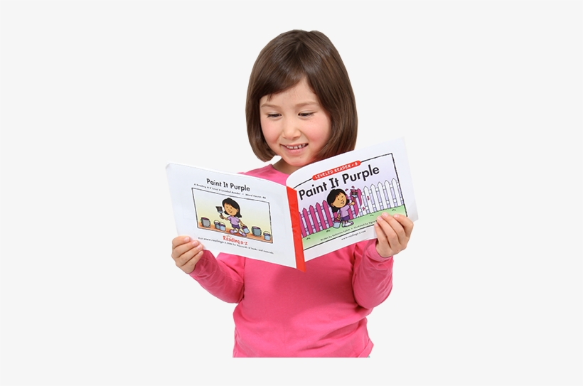 Raz Product Banner Girl - Asian Kids Reading Png, transparent png #2779027