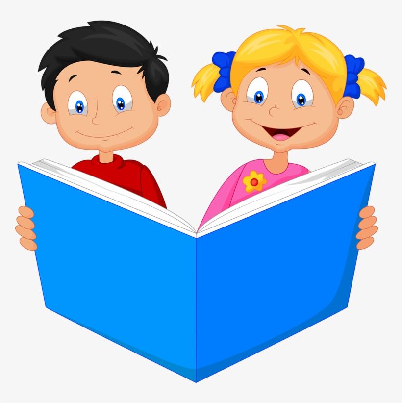 Read It - School Children Cartoon, transparent png #2779394