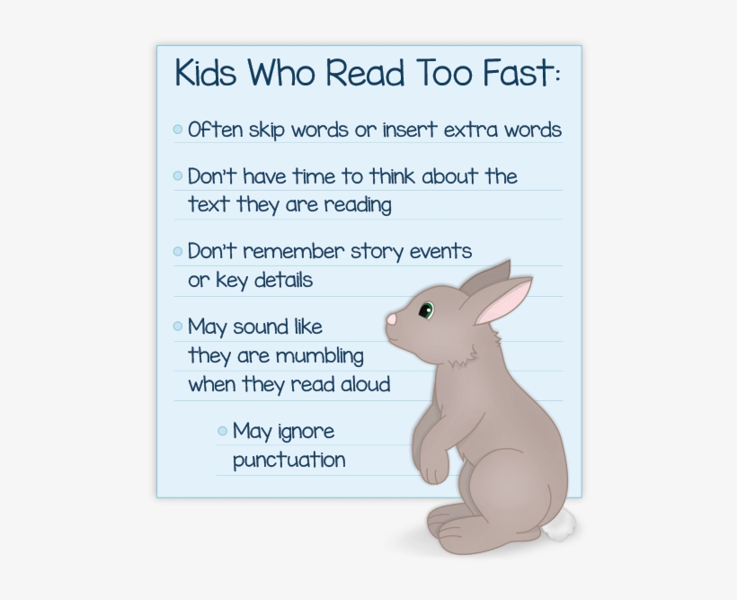 Kids Who Reads Too Fast A Few Problems They Face - Reading Text For Kids, transparent png #2779624