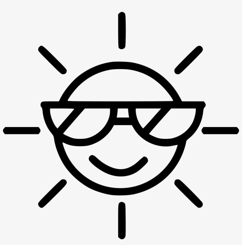 Summer Sun Sunglasses - Sun Pictogram, transparent png #2779855