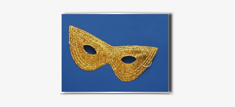 Mask Glitter Harlequin Fm56248 - Forum Novelties Gold Glitter Harlequin Mask - Set, transparent png #2786426