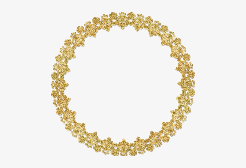 Free Png Golden Round Frame Png Images Transparent - Gold Frame Png Hd, transparent png #2786520