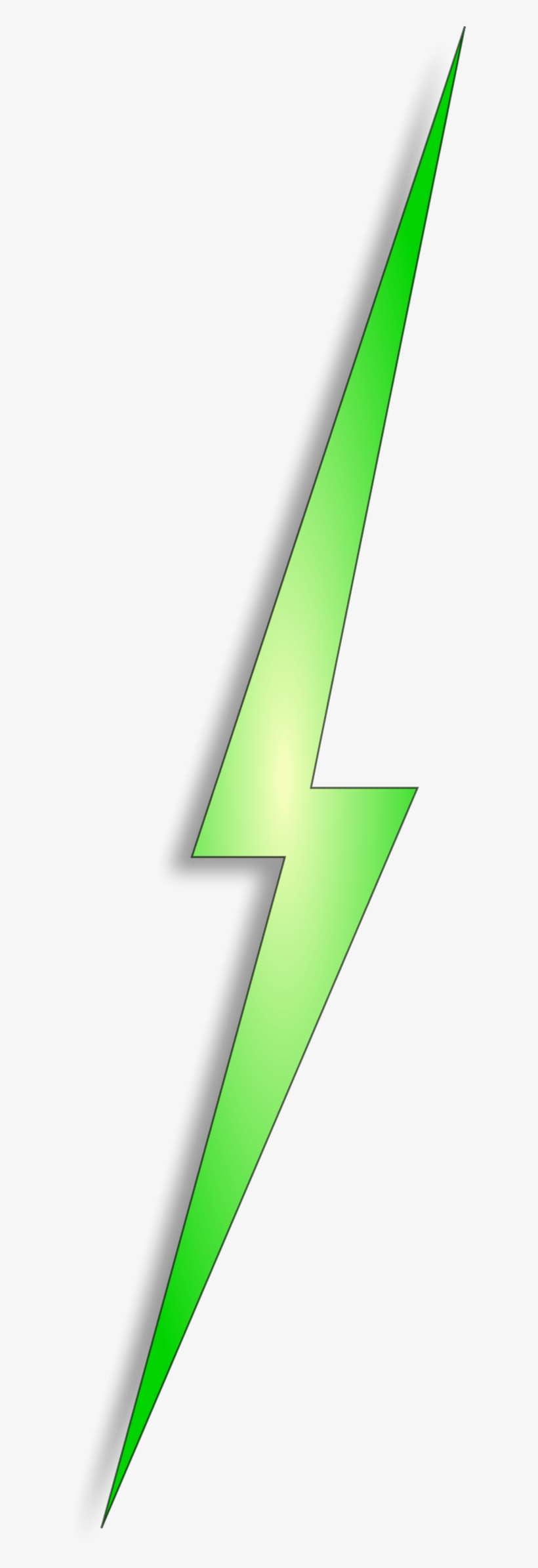 Electrical Clipart Red Lightning Bolt - Green Lightning Bolt Transparent, transparent png #2786823