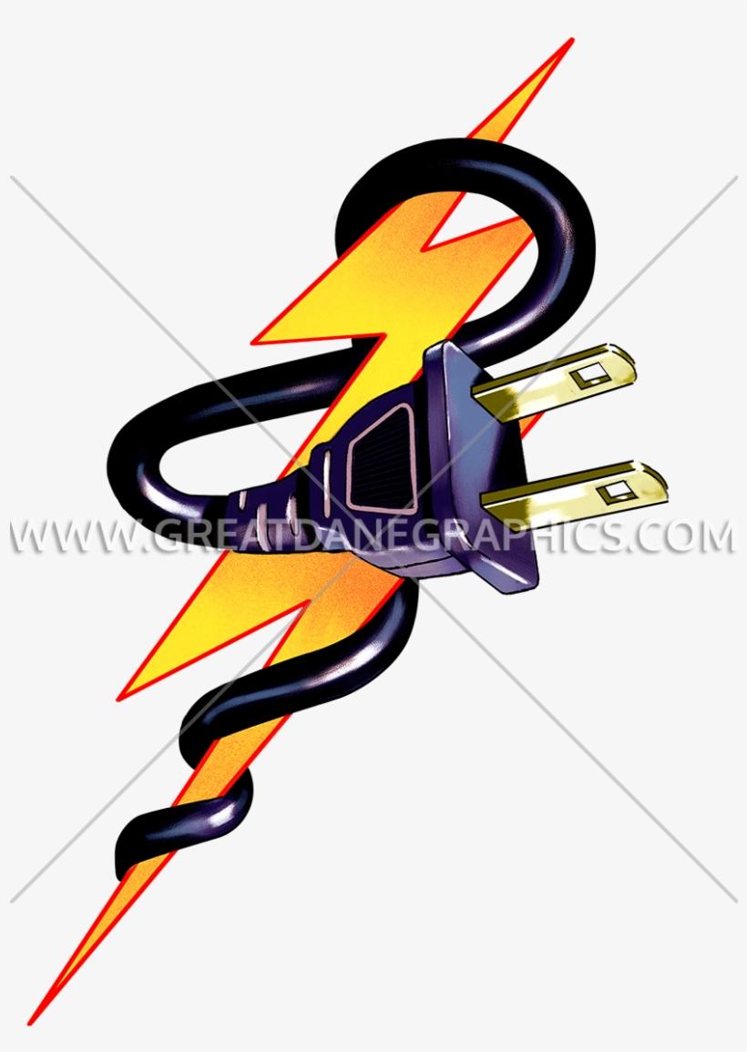 Lightning Bolt Plug - Lightning Bolt With Plug, transparent png #2786905