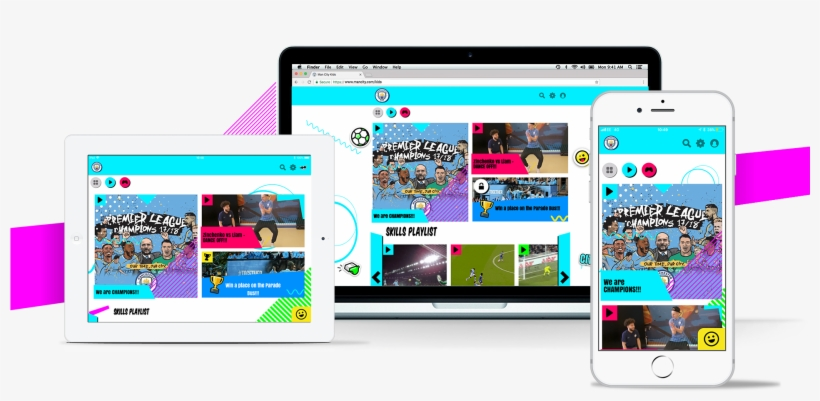 Man City Look To The Future With Kids App Aimed At - Man City Kids App, transparent png #2791398