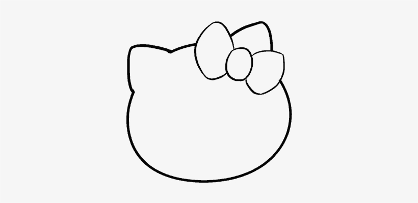 How To Draw Hello Kitty Line Art Free Transparent Png Download