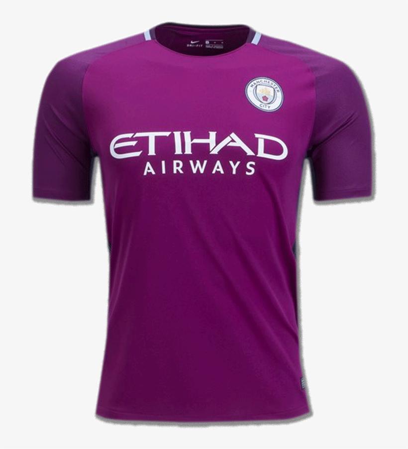 Manchester City Football Jersey Away 17 18 Season - Man City Long Sleeve Jersey 17 18, transparent png #2791548
