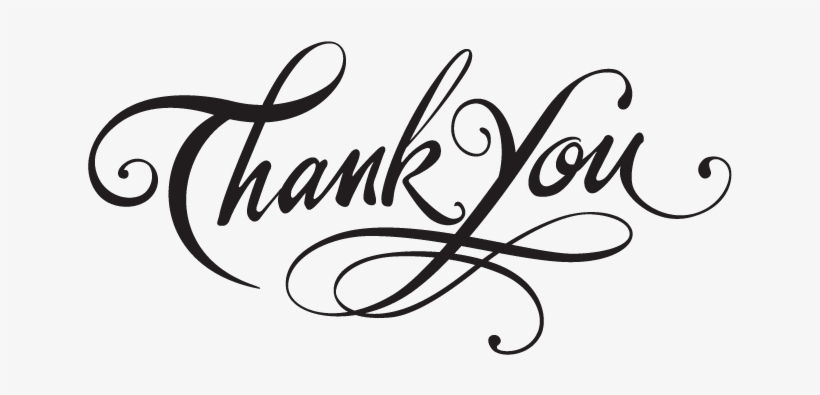Thank You With Transparent Background Free Transparent Png
