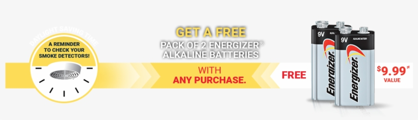 [rona] Free Pack Of 2 Energizer Alkaline Batteries - Energizer Eveready Max 9 Volt Alkaline Battery, transparent png #2795511