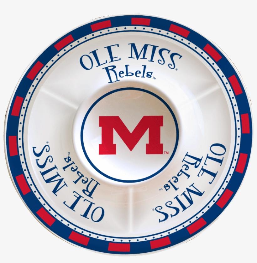 Ole Miss Rebels Ceramic Chip & Dip - Ole Miss Rebels, transparent png #2795993