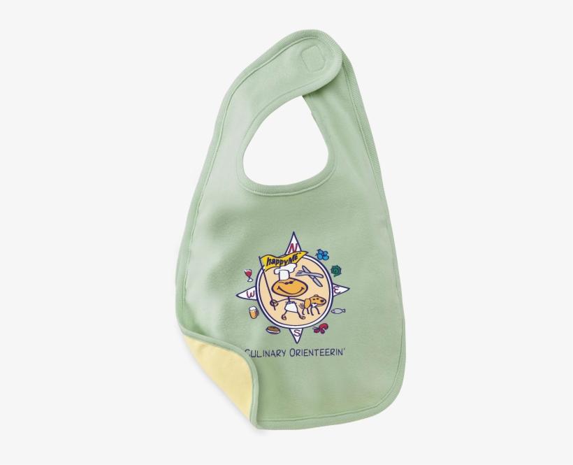 Culinary Orienteerin' Baby Bibs - Bella Baby Reversible Baby Bib - Pale Green/pale Yellow, transparent png #2799191