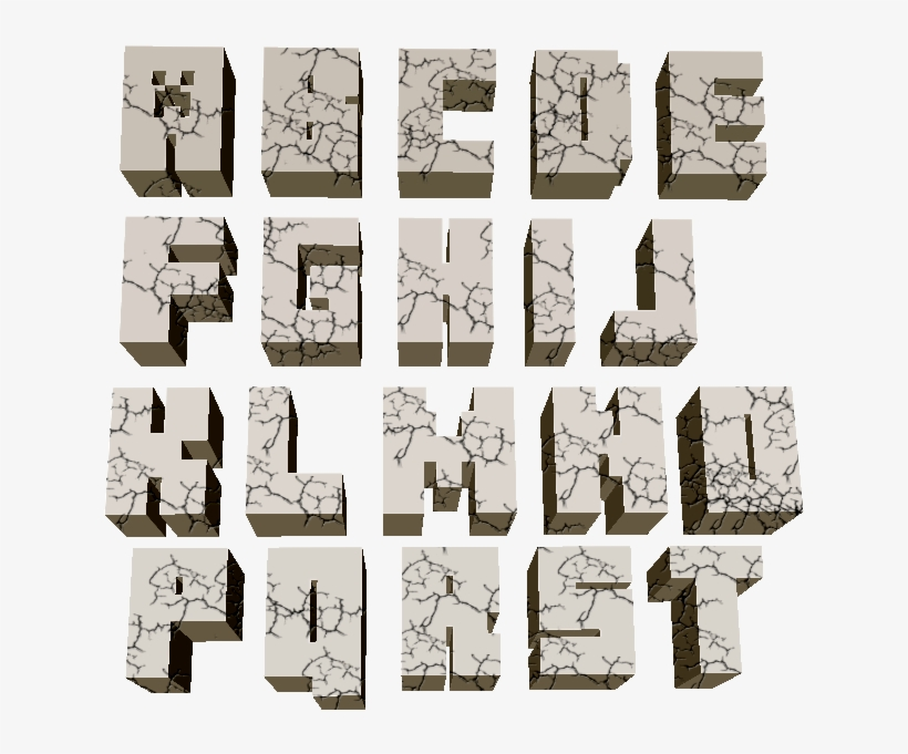 photograph about Free Printable Minecraft Letters titled Minecraft Alphabet Print - Free of charge Printable Minecraft Alphabet