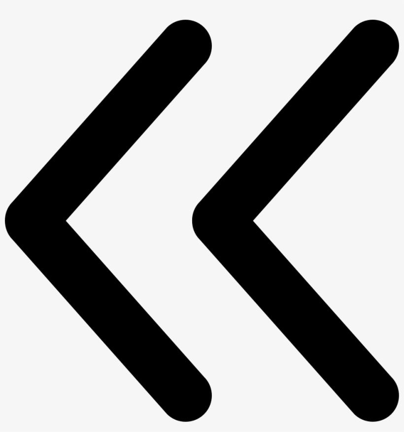 Png File Svg - Left Double Arrow Icon, transparent png #280594
