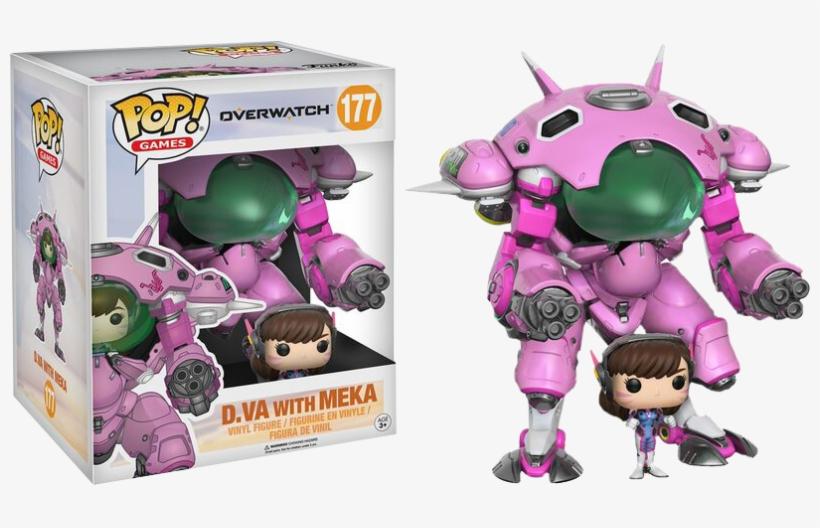 """Va With Meka 6"""" Super Sized Pop Vinyl - D.va & Meka - Pop! Vinyl Figure, transparent png #281563"""
