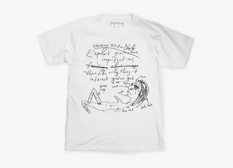 Fashion Tips White T-shirt - Nick Cave Fashion Tips, transparent png #283252