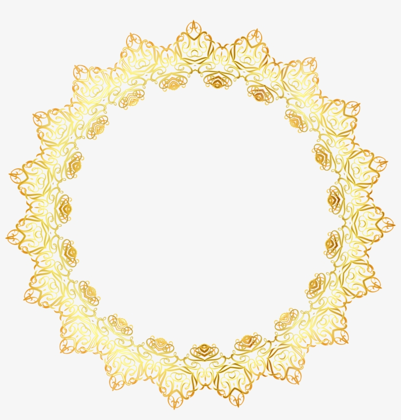 7394d306cde1 Gold Abstract Elegant Frame No Background Icons Png - Transparent  Background Circle Borders