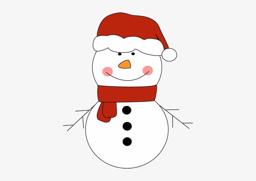 clipart snowman hat outline snowman with santa hat free