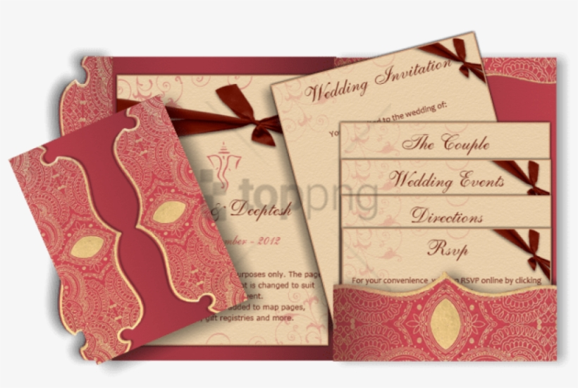 Suitable For Hindu, Muslim, Sikh & Other Religious - Indian Wedding Invitation Peach, transparent png #285367