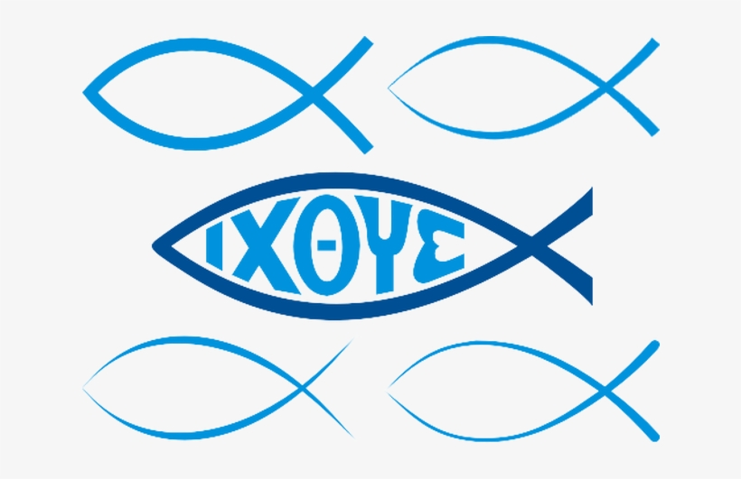 Image Of The Christian Fish Or Ichthys - Christian Fish Signs, transparent png #285977