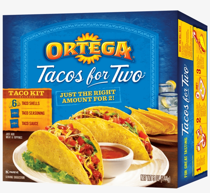 Tacos For Two - Ortega Tacos For Two Taco Kit - 5 Oz Box, transparent png #286136